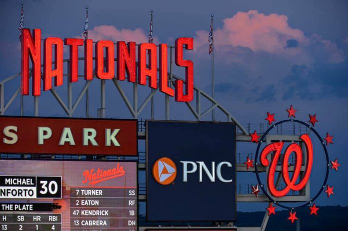 Washington Nationals Park Clock and Scoreboard
