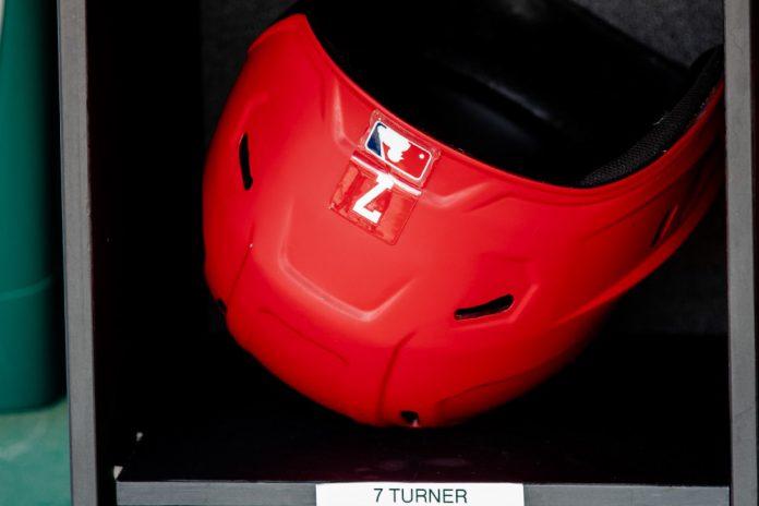 Trea Turner Batting Helment