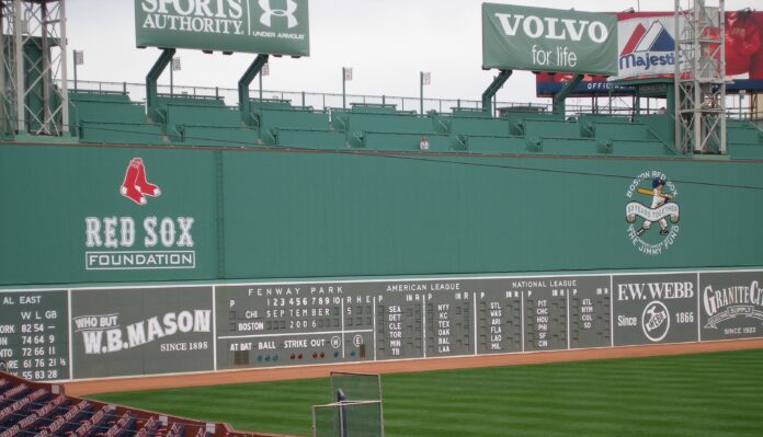 The Green Monster at Fenway Park, Boston, MA